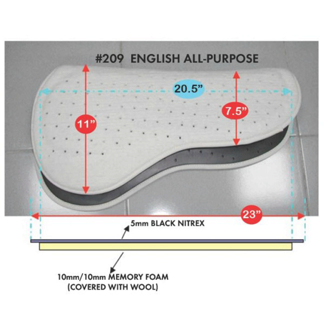 Cavallo All-Purpose English Saddle Pad