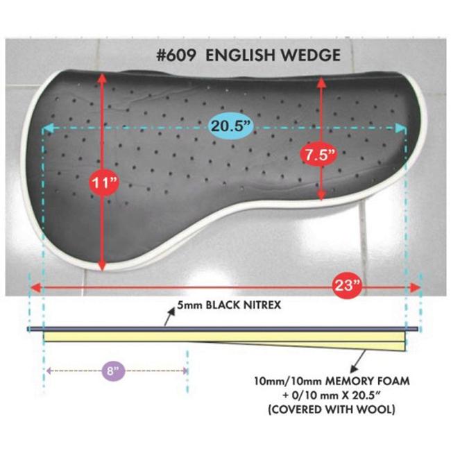 Cavallo English Wedge Saddle Pad