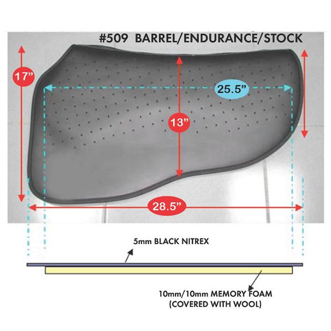 Cavallo Western Barrel/Endurance/Stock Saddle Pad