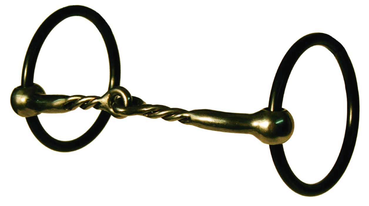 Reinsman Charlie Green Loose Ring Black Tie Snaffle