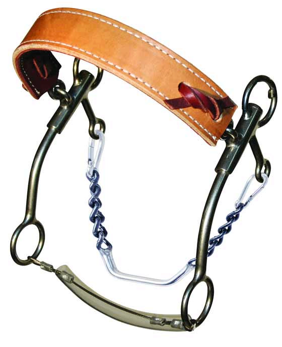 Reinsman Camarillo Flat Leather Noseband Power Hackamore -7'' Shank