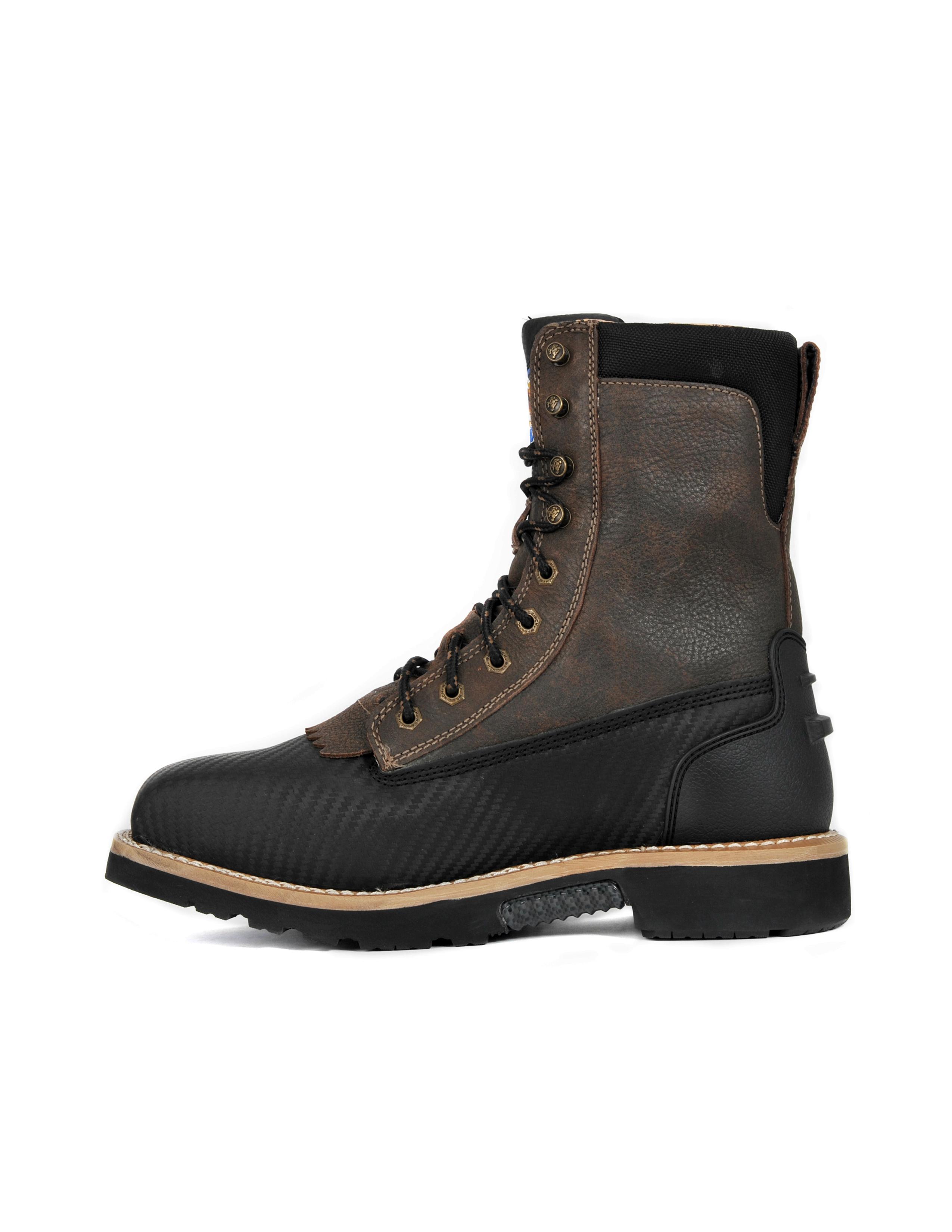 Cinch WRX Men's Waterproof Distressed Black Work Boot WXM121SW