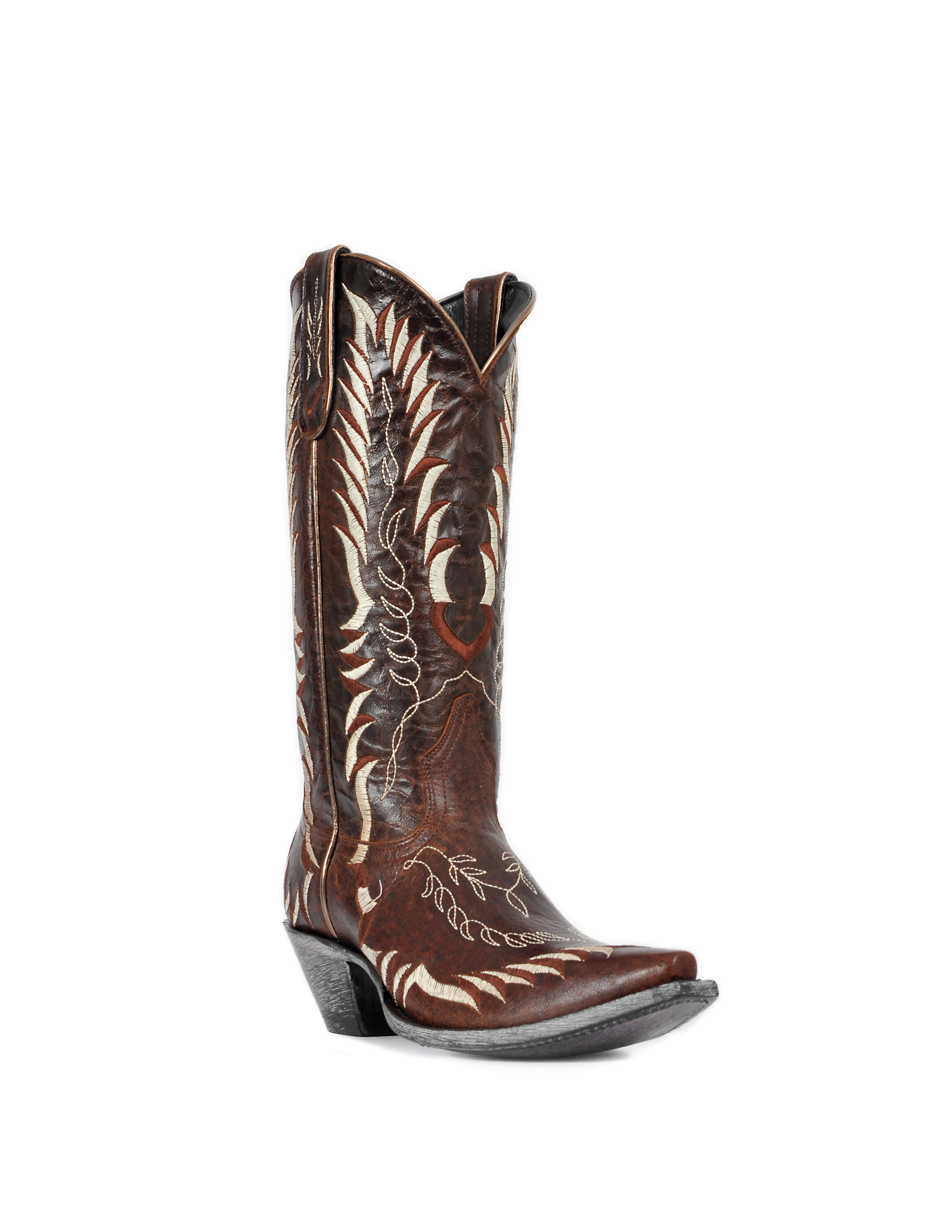 Johnny Ringo Women's Oklahoma Brown Snip Toe Cowgirl Boots JR922-56T