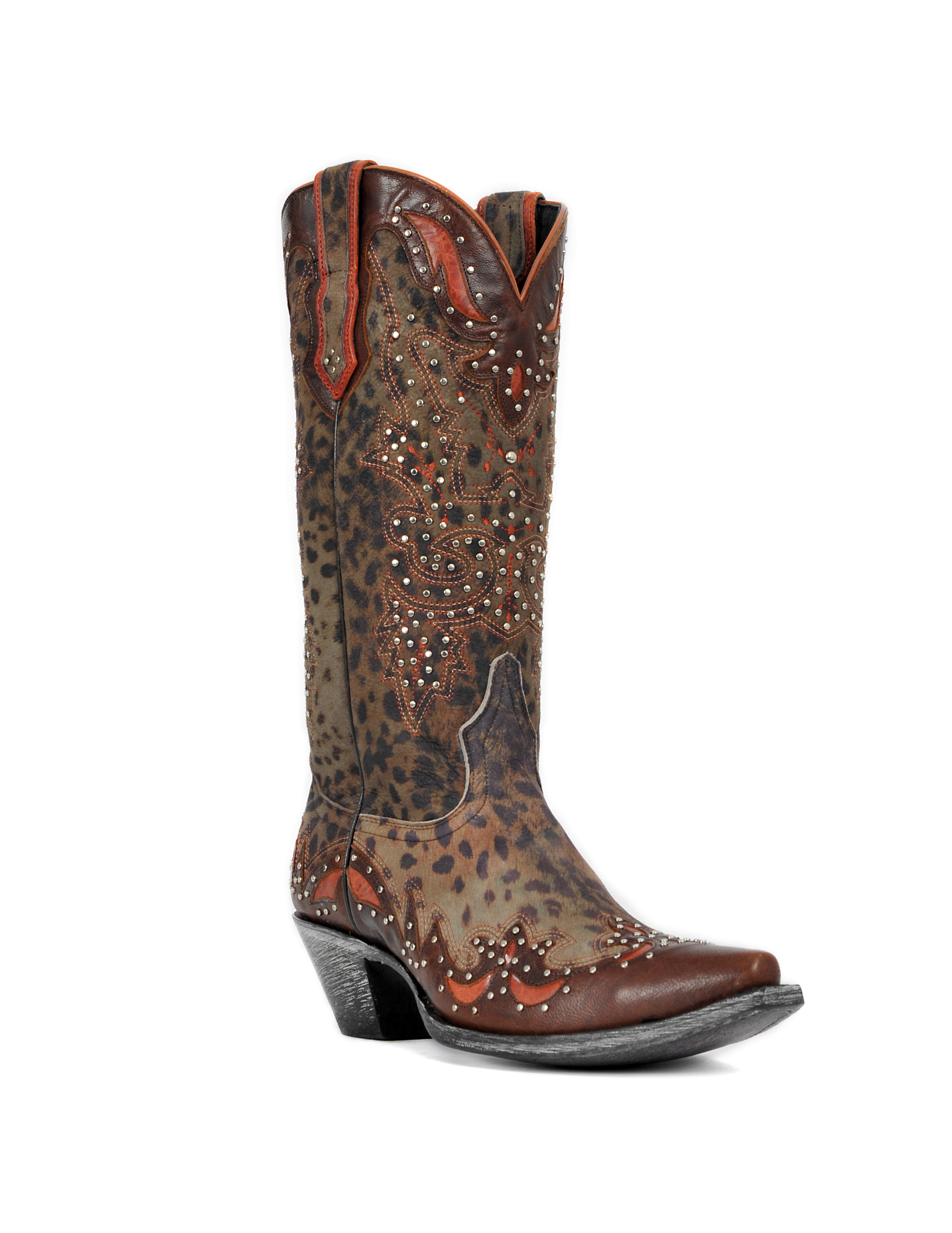 Johnny Ringo Women's Grey Cheetah Print Western Boots JR922-52T