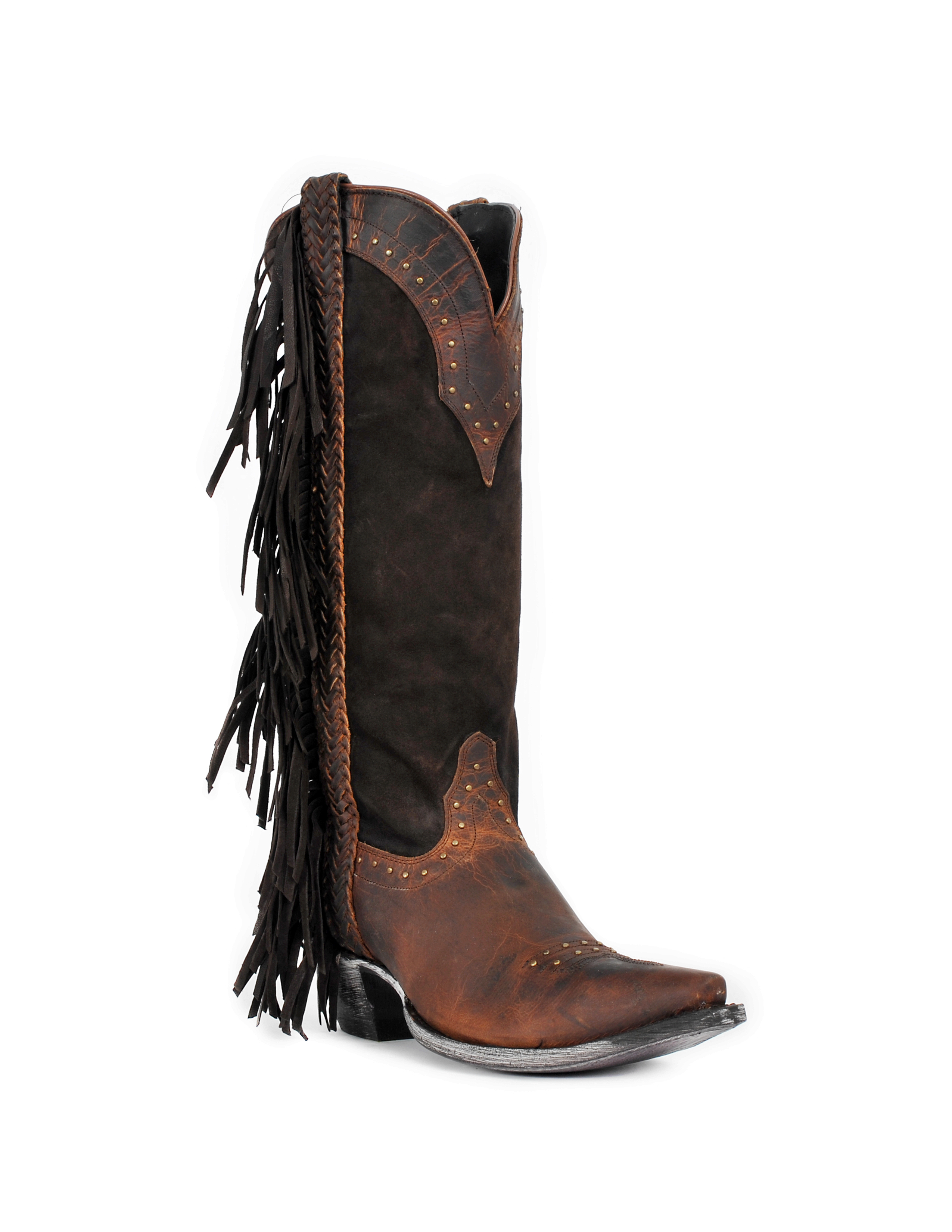 Johnny Ringo Women's Tall Fringe Western Cowgirl Boots JR922-63T