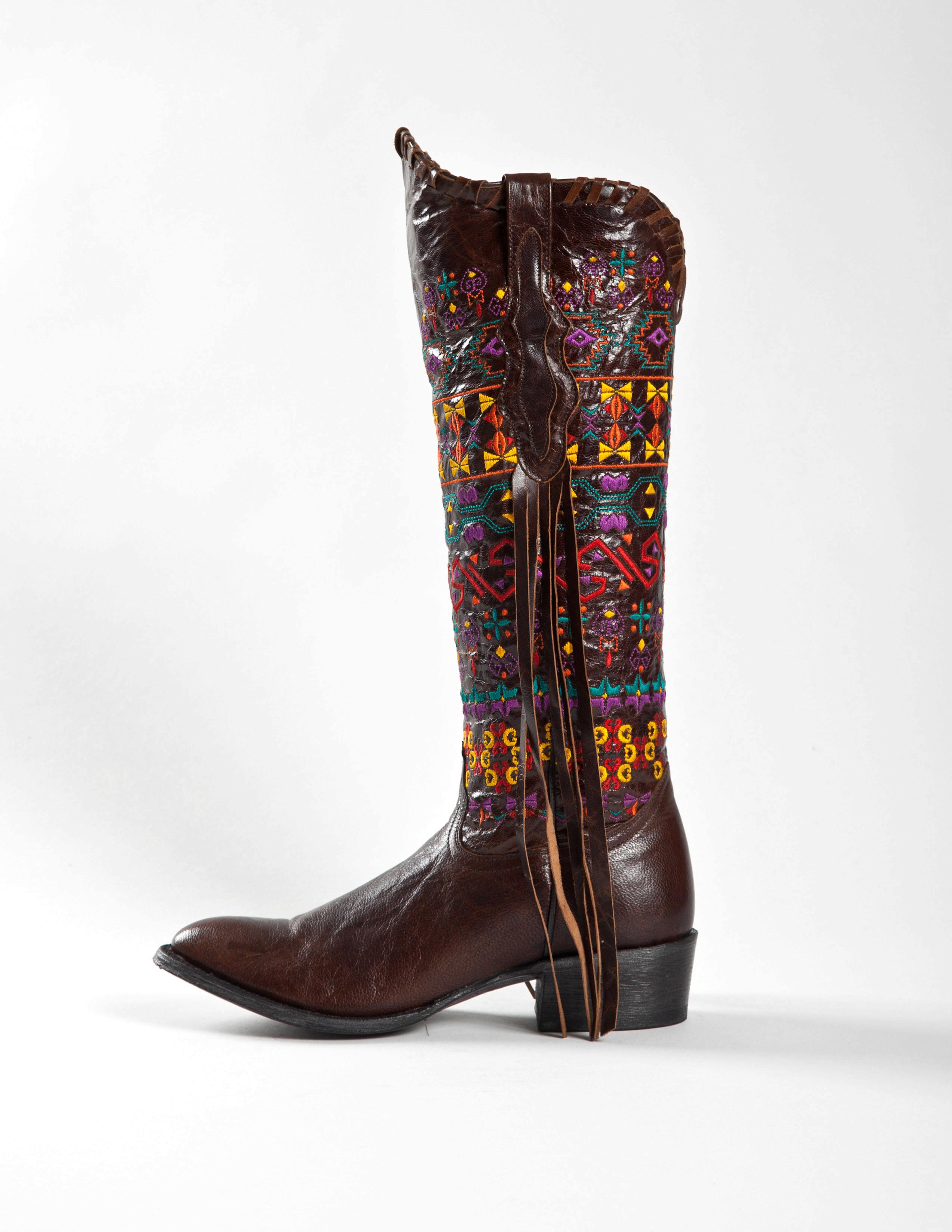Johnny Ringo Women's Tall Fringe Western Boots JRS806-9B