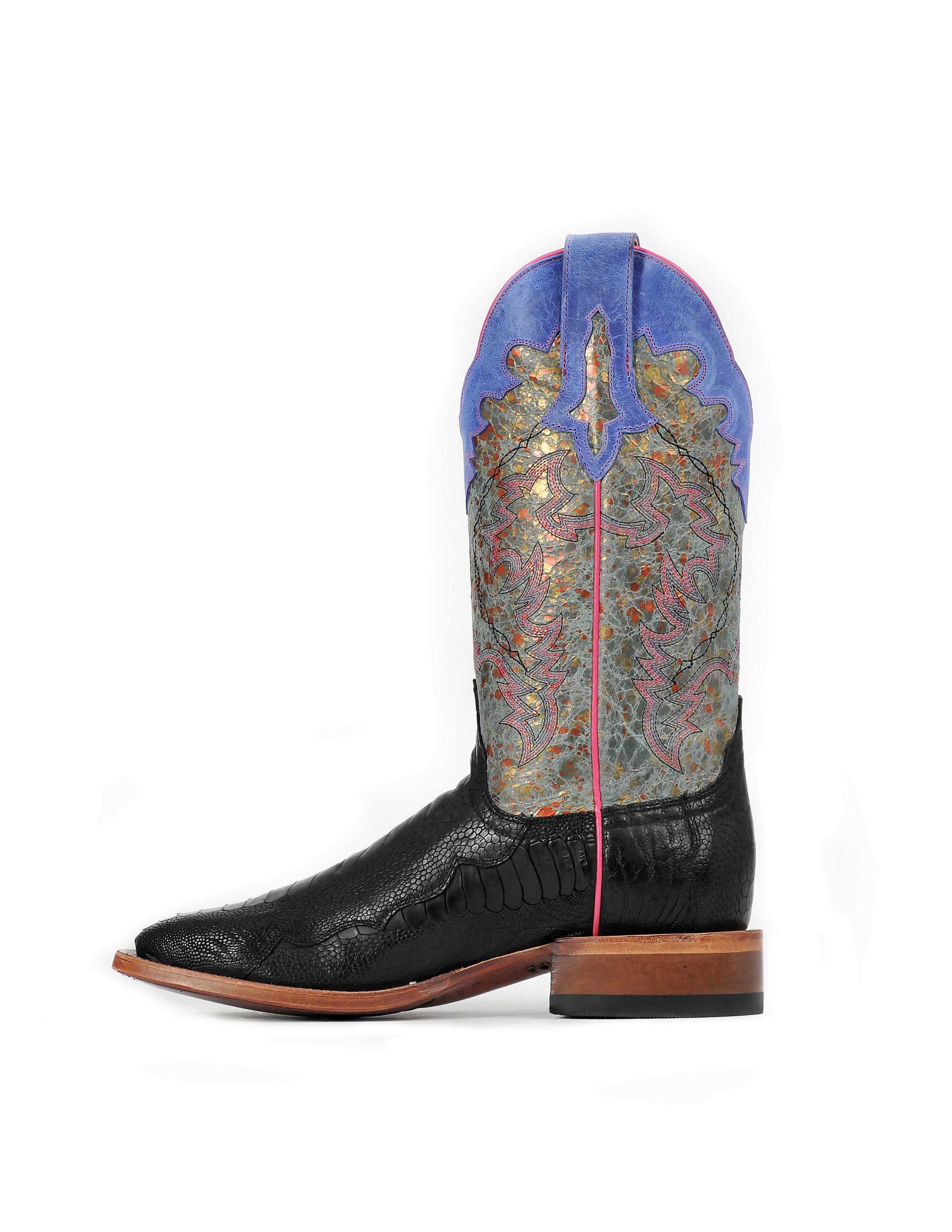 Cinch Women's Black Ostrich Leg CFW542 Western Boots