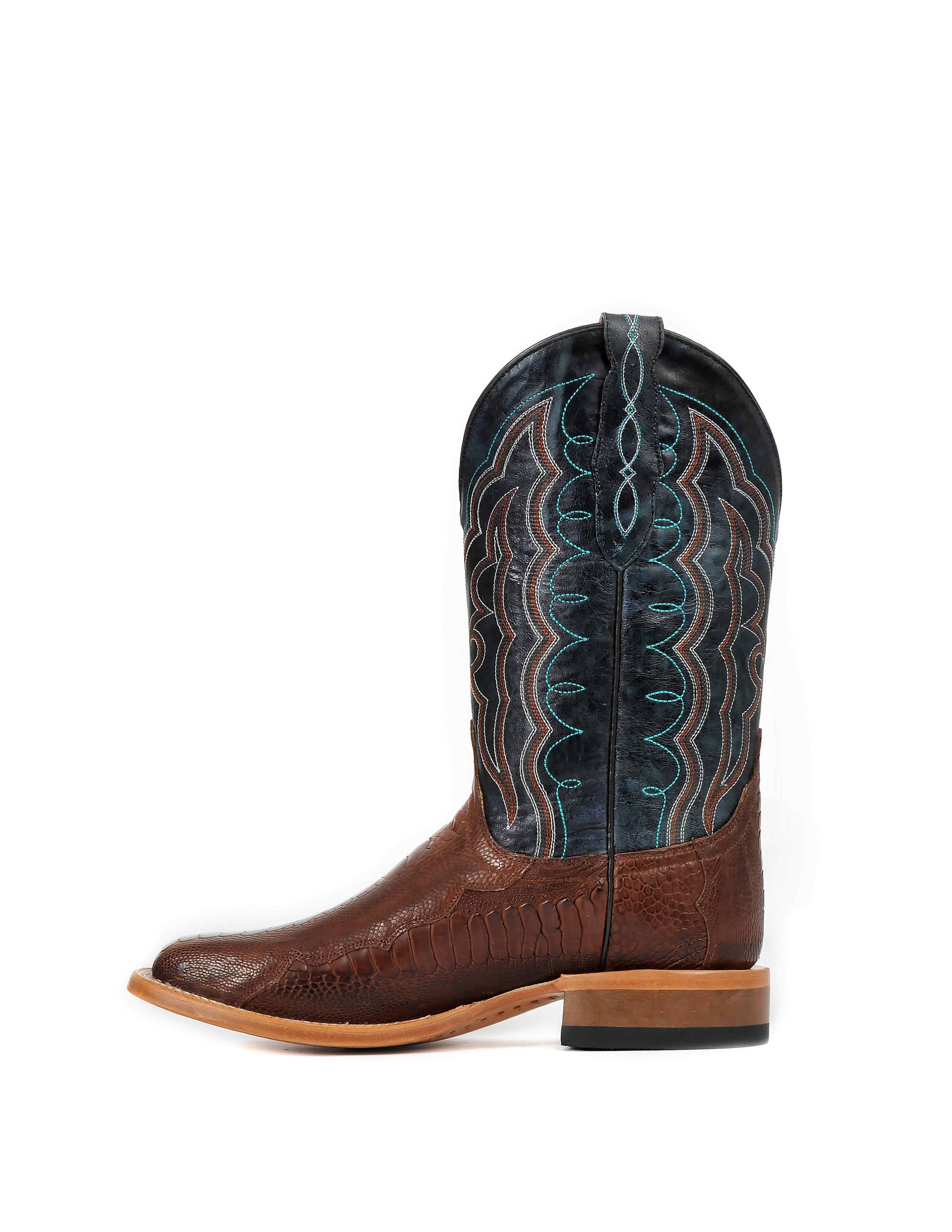 Cinch Men's Chestnut Ostrich Leg CFM538 Western Boots