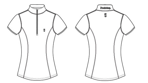 Tredstep Ladies Symphony Futura Sport Top Short Sleeve