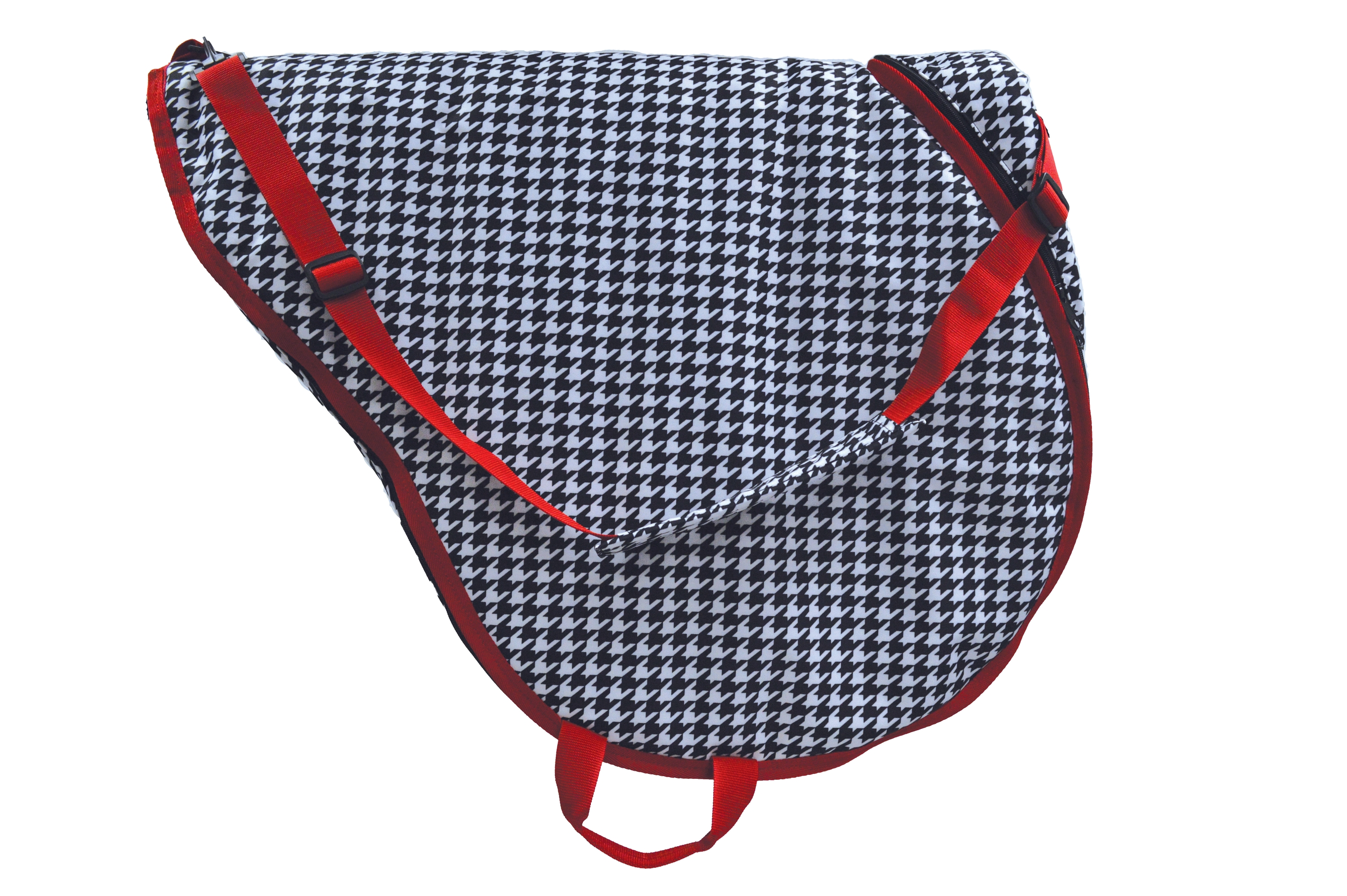 Lami-Cell Houndstooth English Saddle Case
