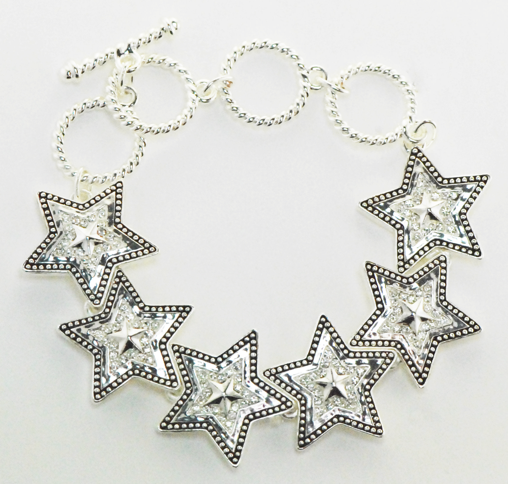 Finishing Touch Crystal Star Toggle Bracelet