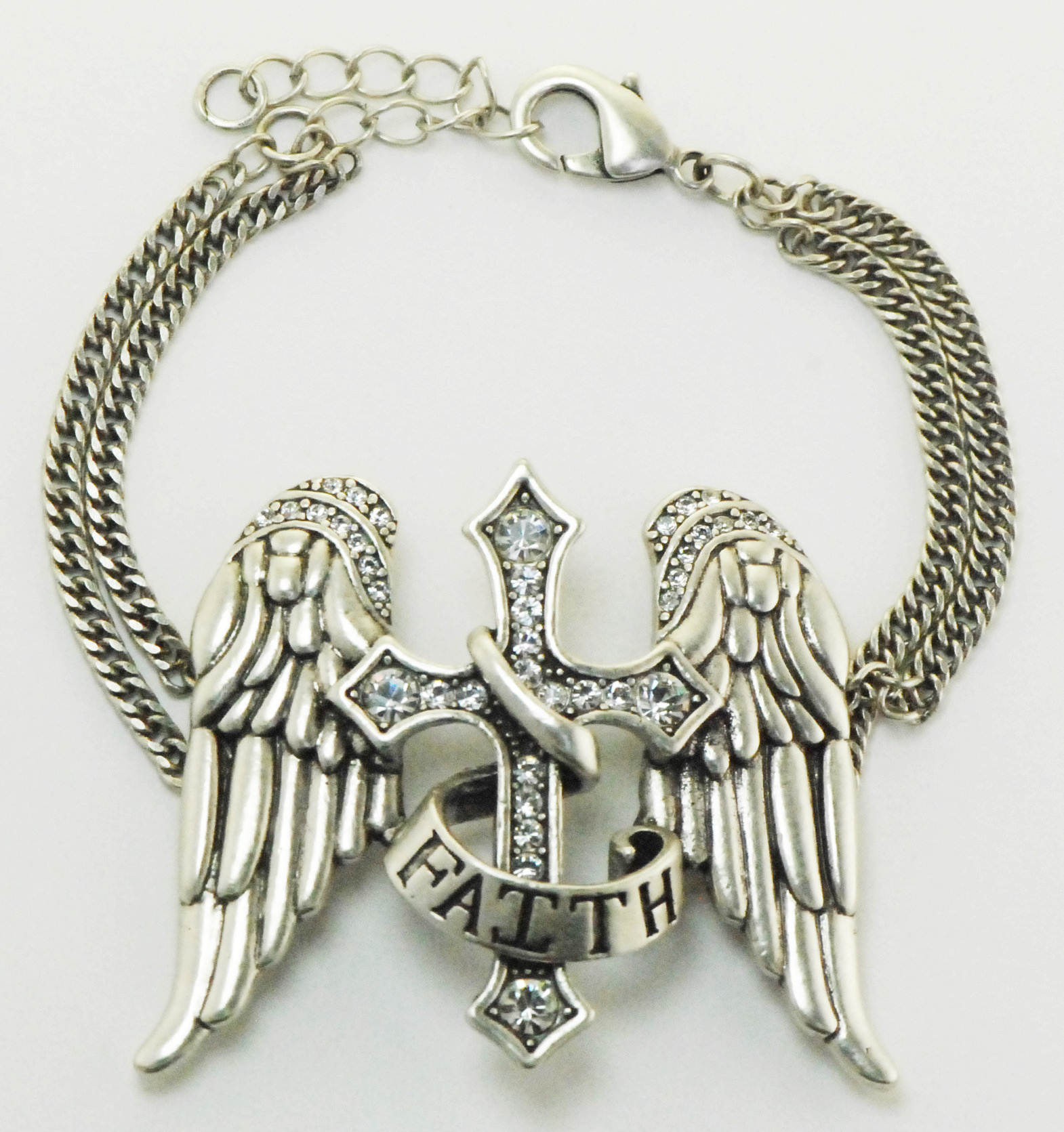 Finishing Touch Angel Wings Faith Bracelet