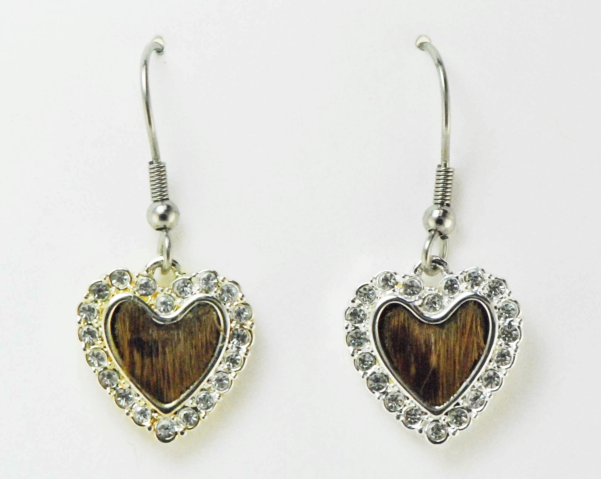 Finishing Touch Hair-On Heart Earrings