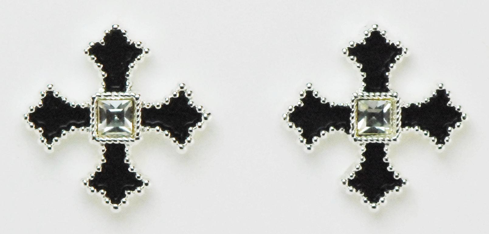 Western Edge Jewelry Filled Cross Earrings