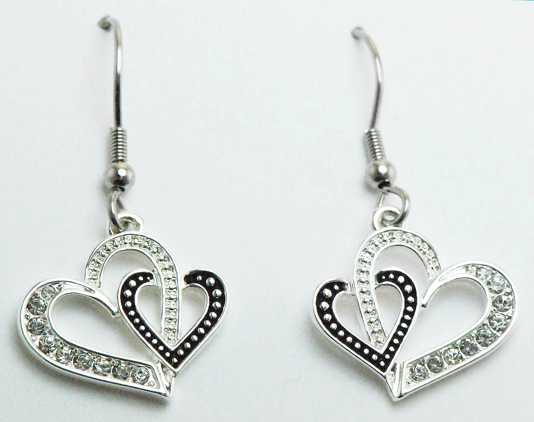 Finishing Touch Double Heart Earrings