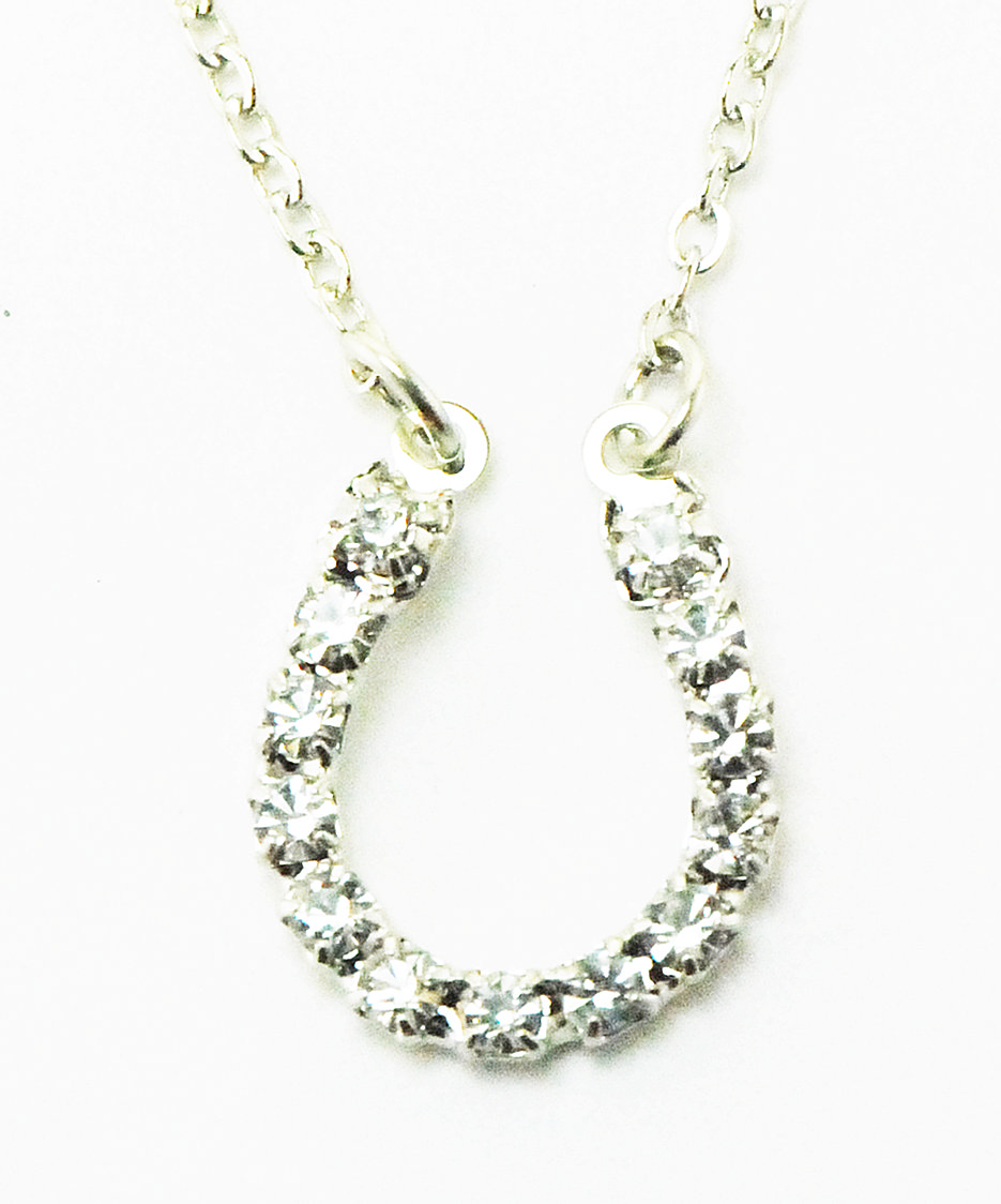 Finishing Touch Rhinestone Horseshoe Necklace