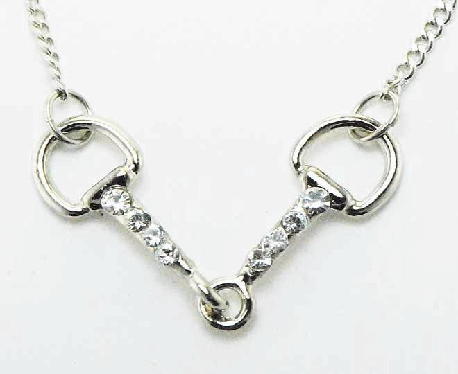 Western Edge Jewelry Crystal Snaffle Bit Necklace