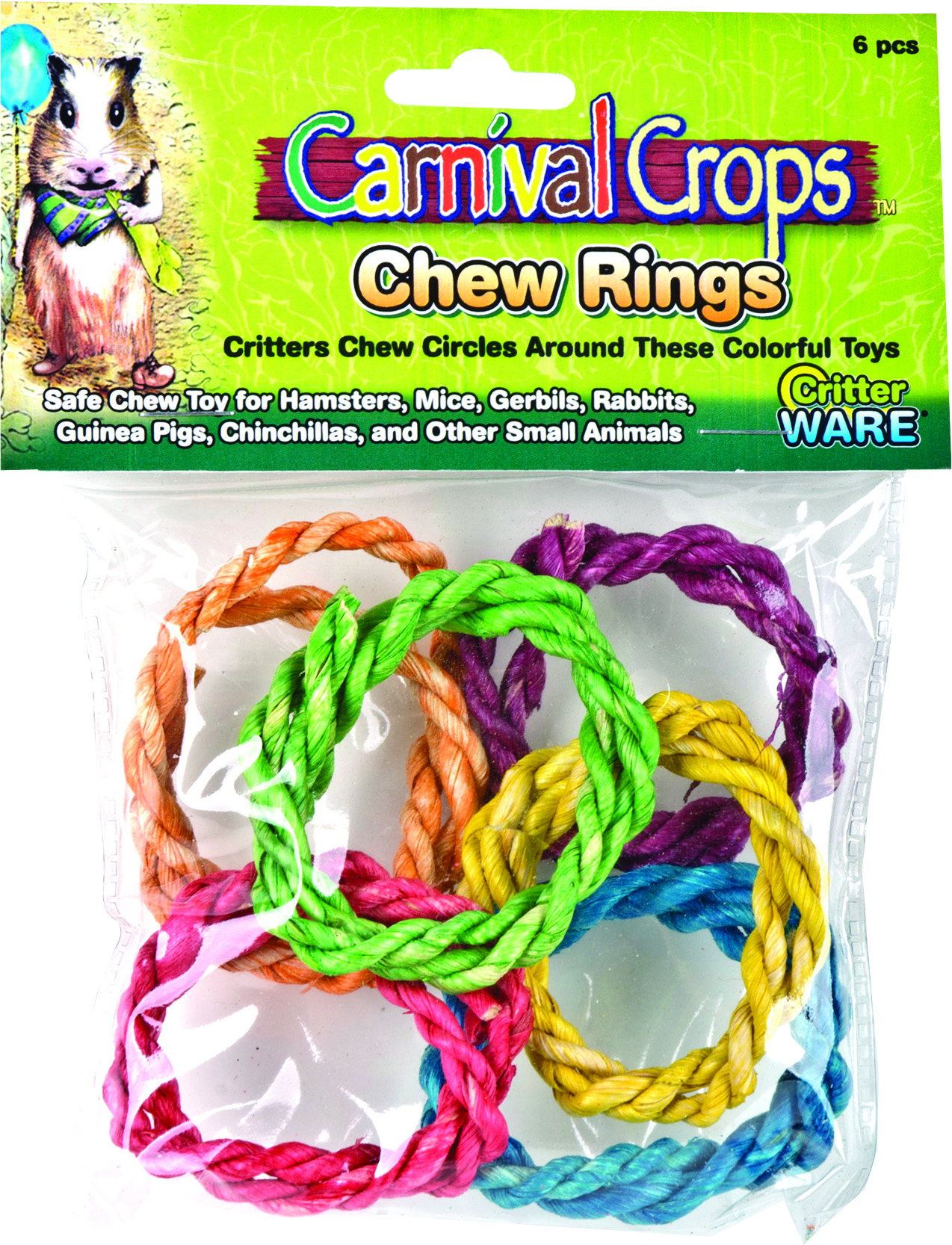 Ware Colorful Chew Rings Small Animal Toy