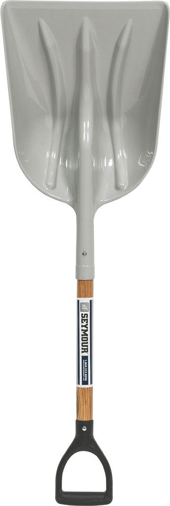 Midwest Poly Head Grain Scoop D-Shape Wood Handle Shovel