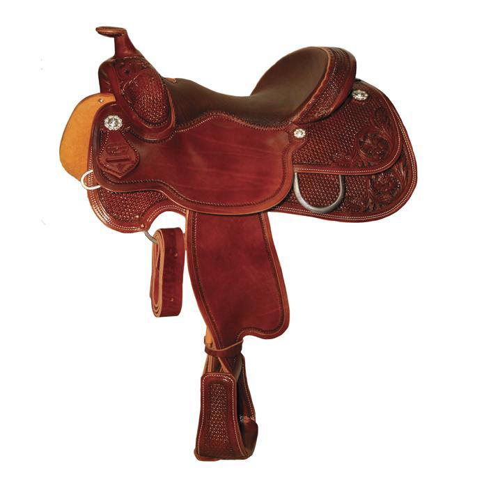 Reinsman 4761 Reiner Saddle-Basketweave/Floral