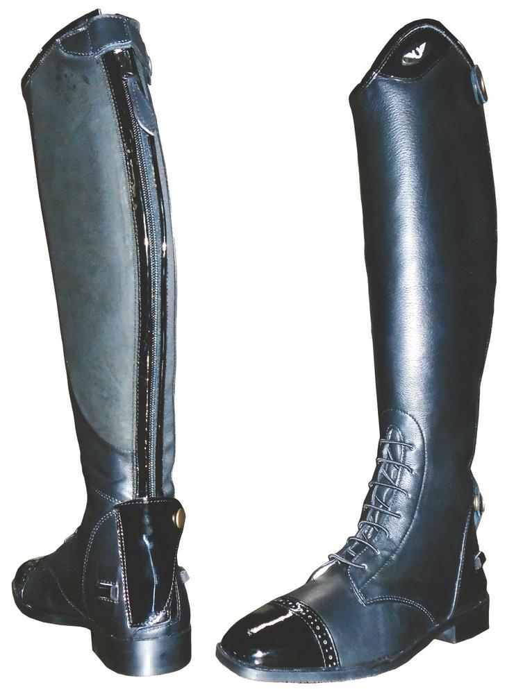 Tuffrider Regal Patent Field Boots Ladies - FREE Boot Bag, Socks & FREE SHIPPING