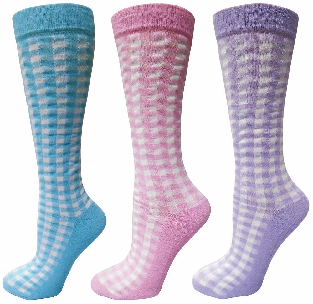 Tuffrider Ladies' Gingham Check Socks
