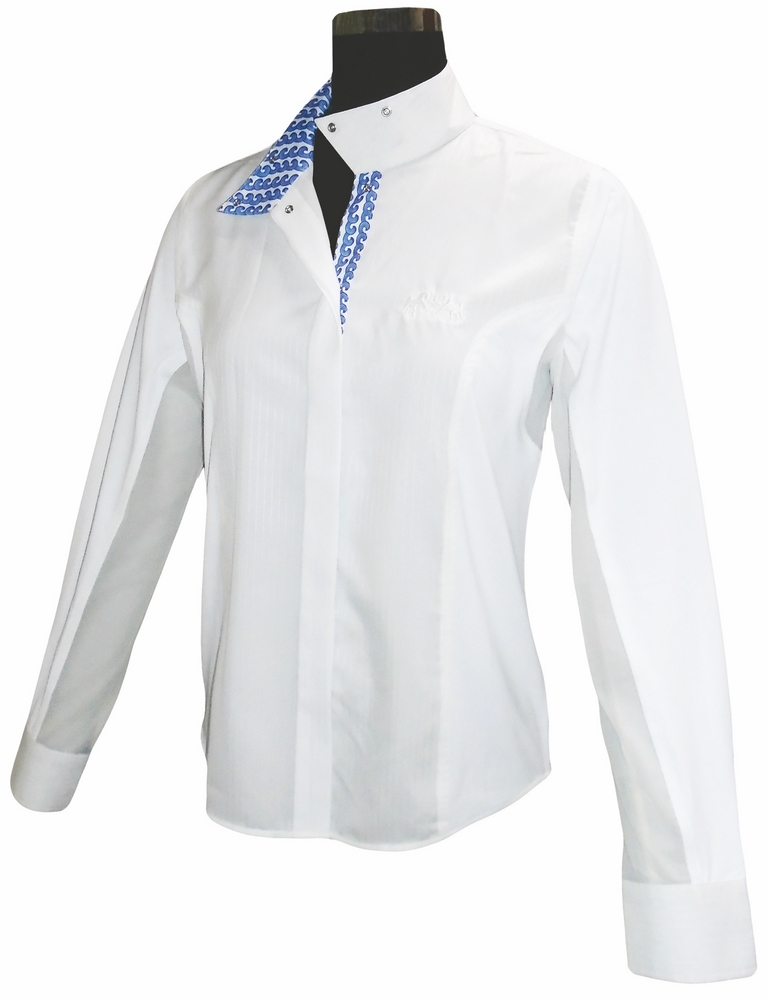 Equine Couture Waves Ladies' Long Sleeve Show Shirt