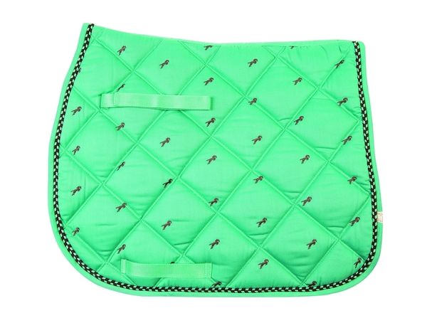 Lettia Embroidered All Purpose Pad - Seafoam with Brown Jumper