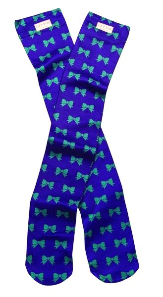 Lettia Adult Nylon/Spandex Boot Sock - Bows