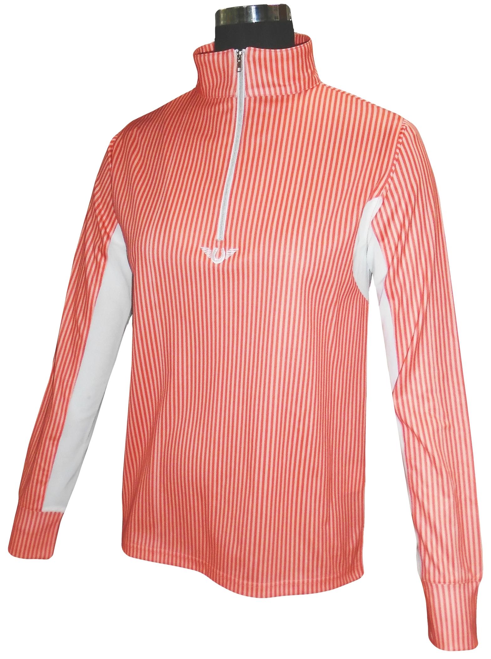 TuffRider Ladies' Neon Stripe Long Sleeve Technical Shirt