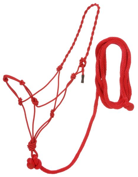 Poly Rope Halter With Knots & 14ft Lead