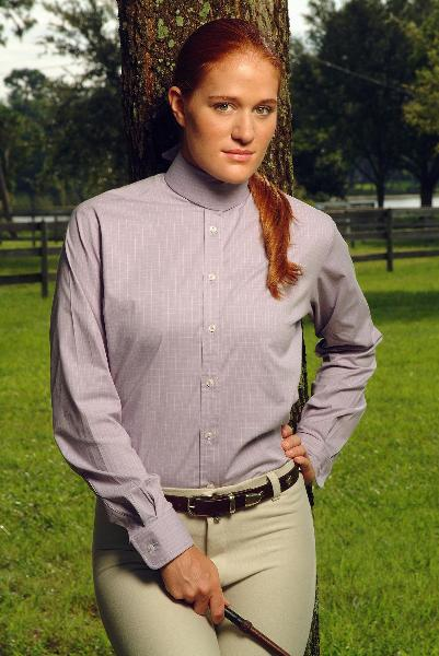 Devon Aire Ladies L/S Stretch Shirt