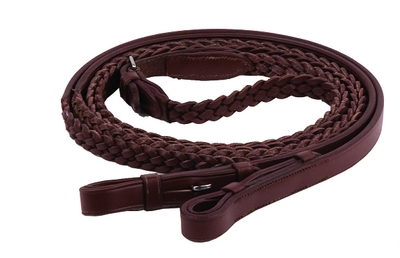 Henri de Rivel Plaited Reins 5/8""