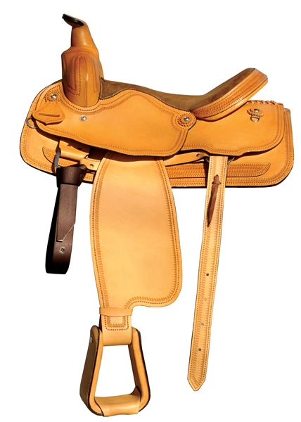 Lami-Cell Leather Ranching Saddle