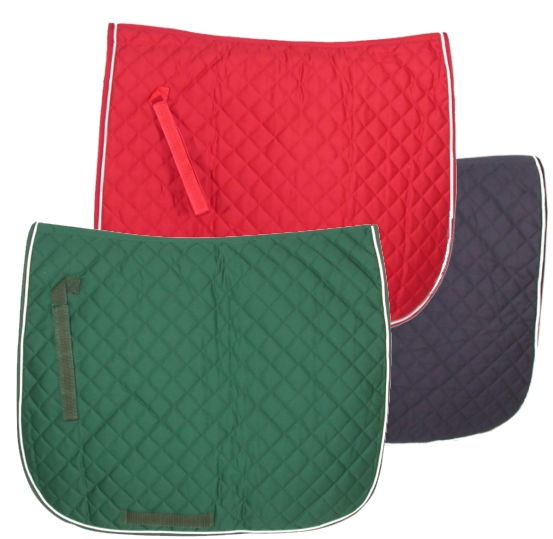 GATSBY Quilted Cotton Dressage Saddle Pad