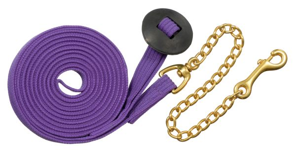 Tough-1 German Cord Cotton Lunge Line with Heavy Chain 6PK