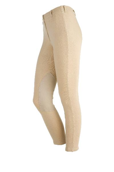 On Course Cotton Natural Pull On Breeches