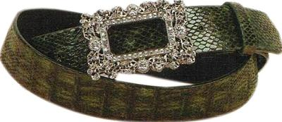 Wellington Collection Baby Crocodile Belt