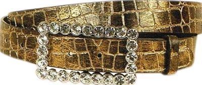 Wellington Collection Metallic Crocodile Belt