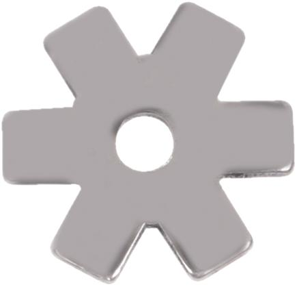 Darnall Rowel - 6 Pt Stainless Steel Square