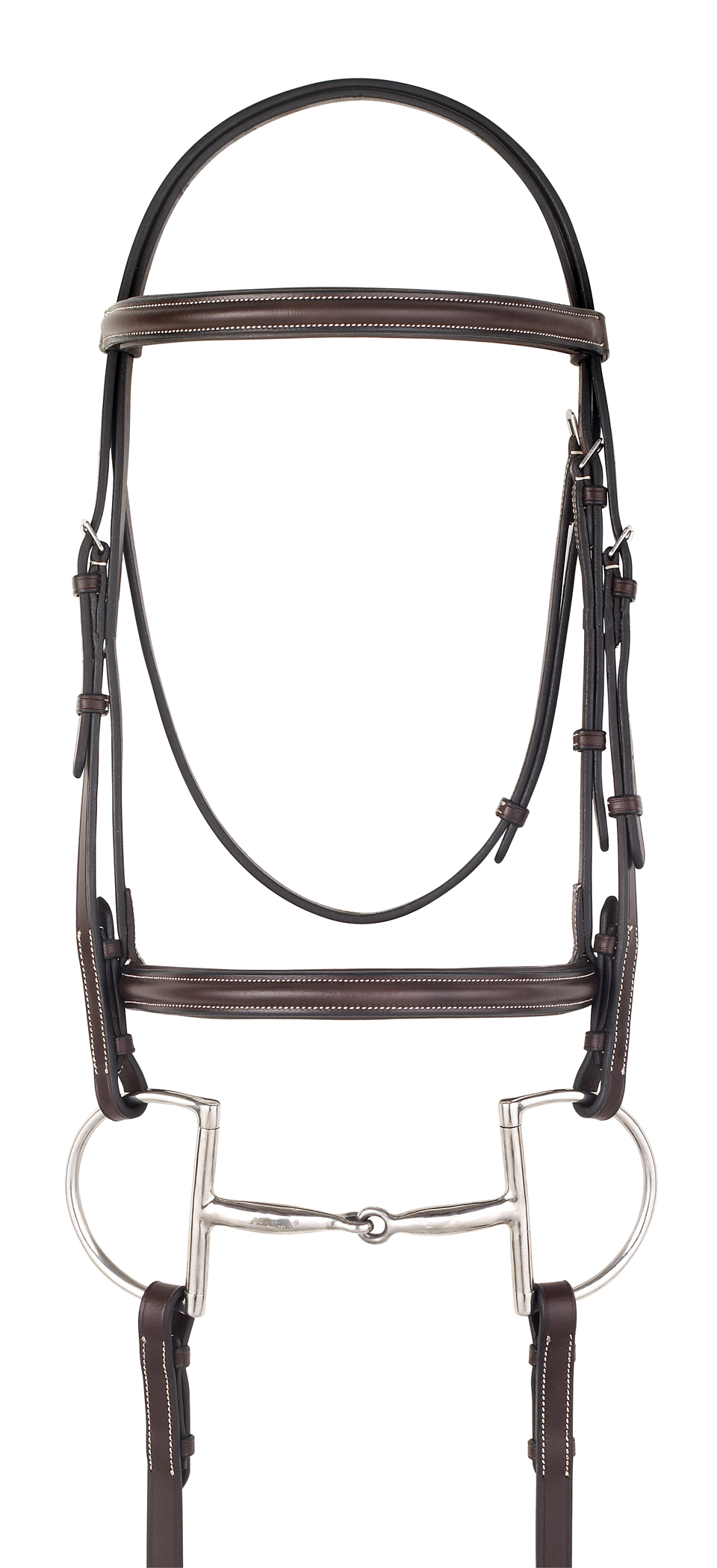 Camelot Gold Plain Raised Padded Bridle with Flash