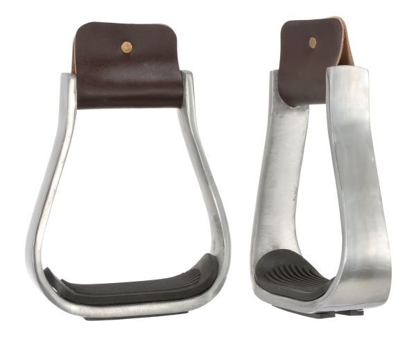 "3"" Aluminum Stirrups with Rubber Pad"