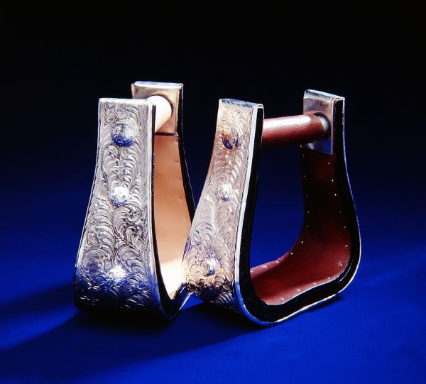 Royal King Silver 3'' Bell Stirrups