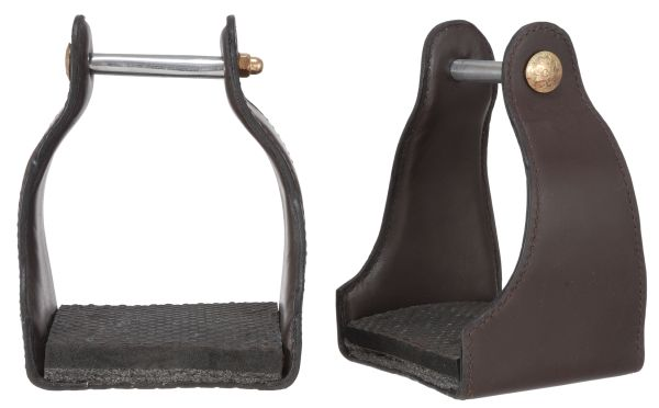 Royal King Leather Covered Endurance Stirrup
