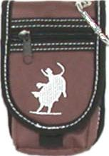Nylon Cell Phone Holder with Equine Embroidery