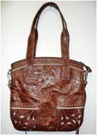 AMERICAN WEST Exclusive Style Flat Convertible Tote Tan