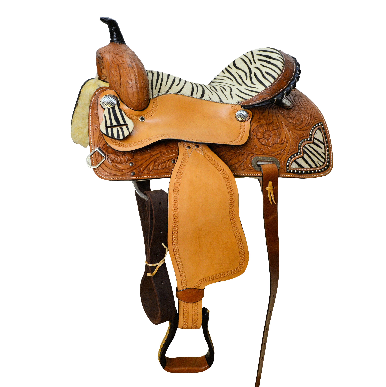 SEDONA Western Saddle with Zebra print