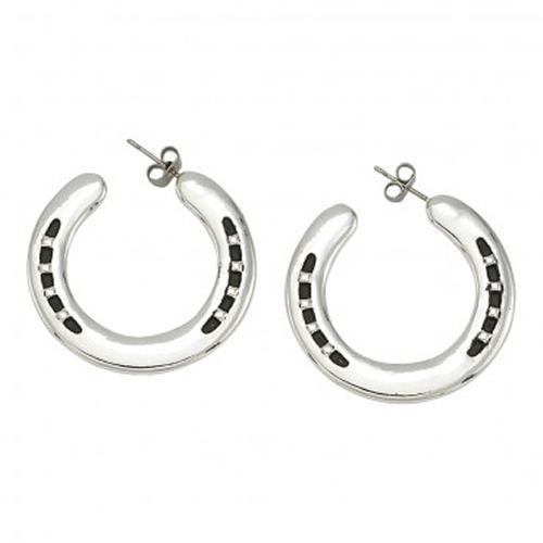 Montana Silversmiths Silver Horseshoe Hoop Earrings