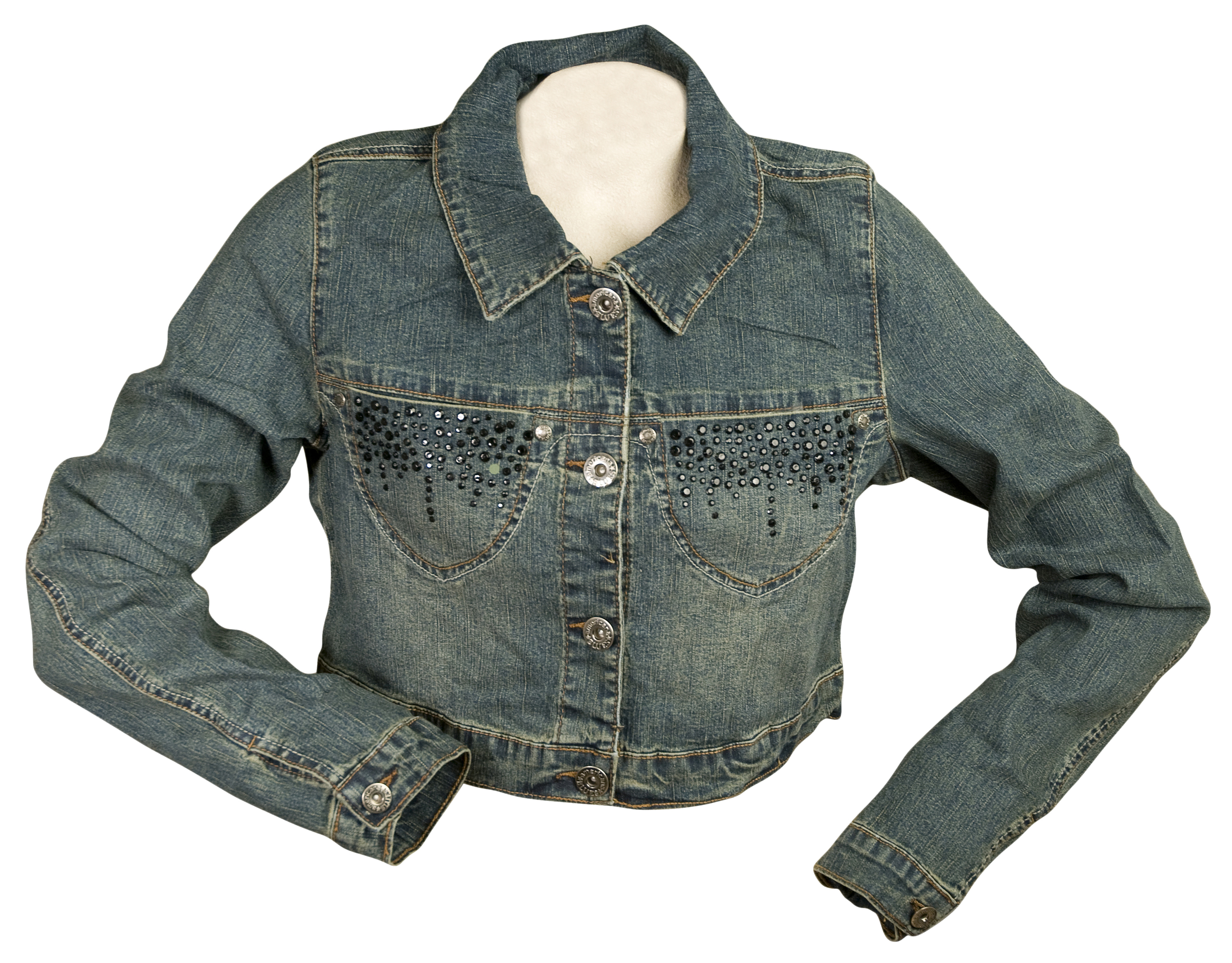 Americana Blues Jean Jacket with Bling