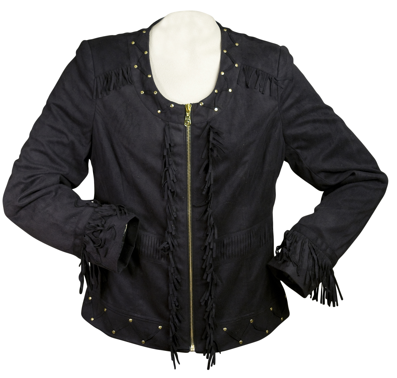 Western Suede Jacket with Fringe